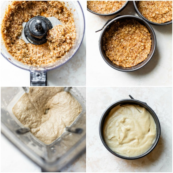 step-by-step on how to make no bake cheesecake