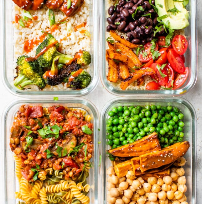 containers filled with healthy food