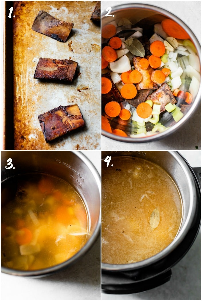 how to make bone broth an a pressure cooker