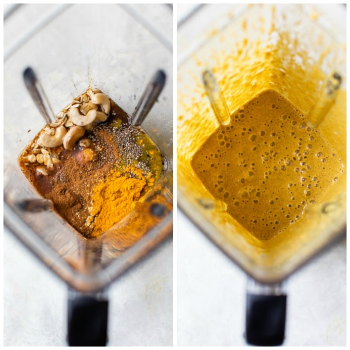 ingredients in a blender