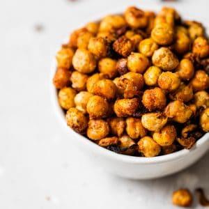 seasoned chickpeas in a bowl