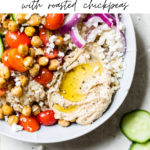mediterranean bowl with text overlay