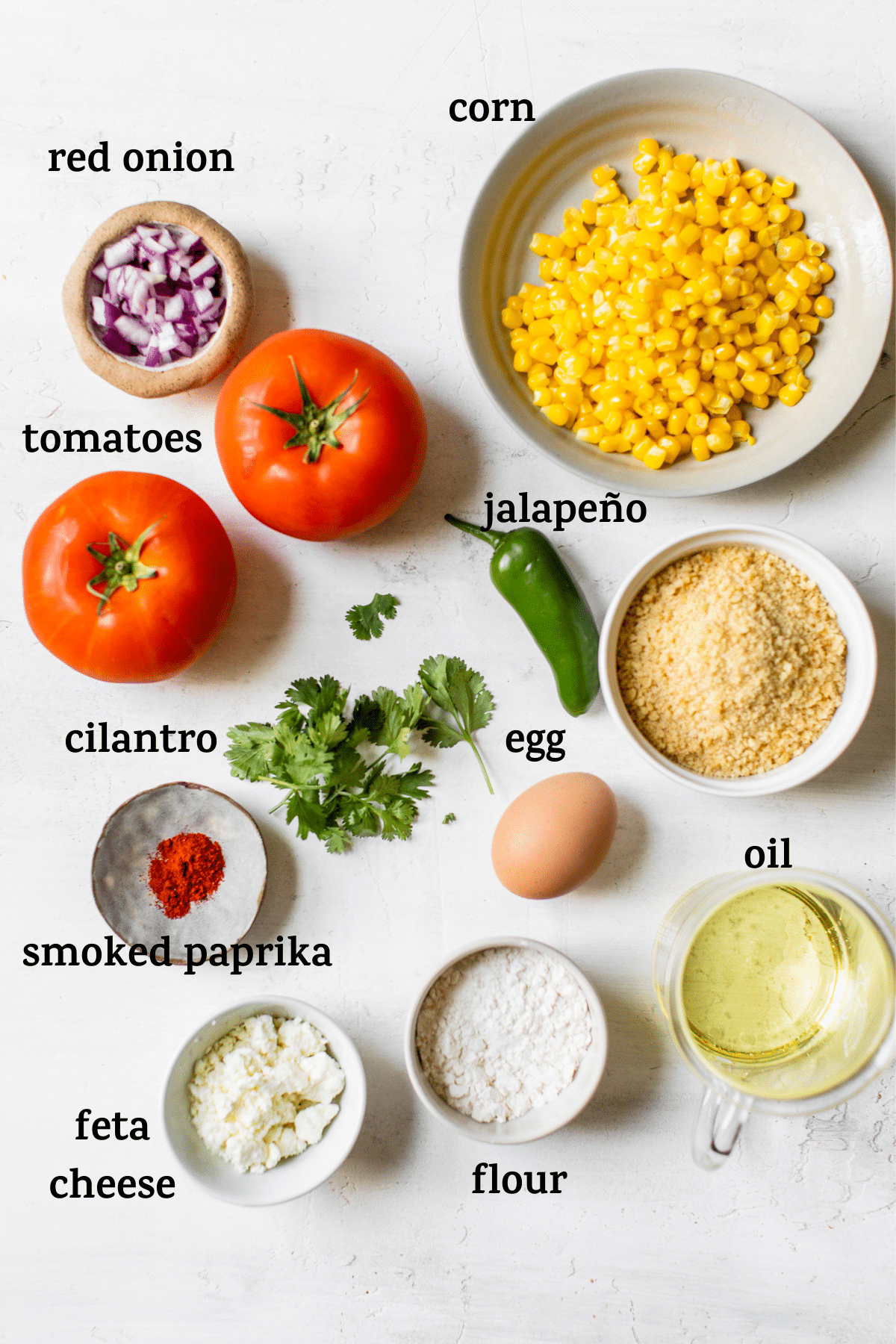 ingredients on a table with text overlay
