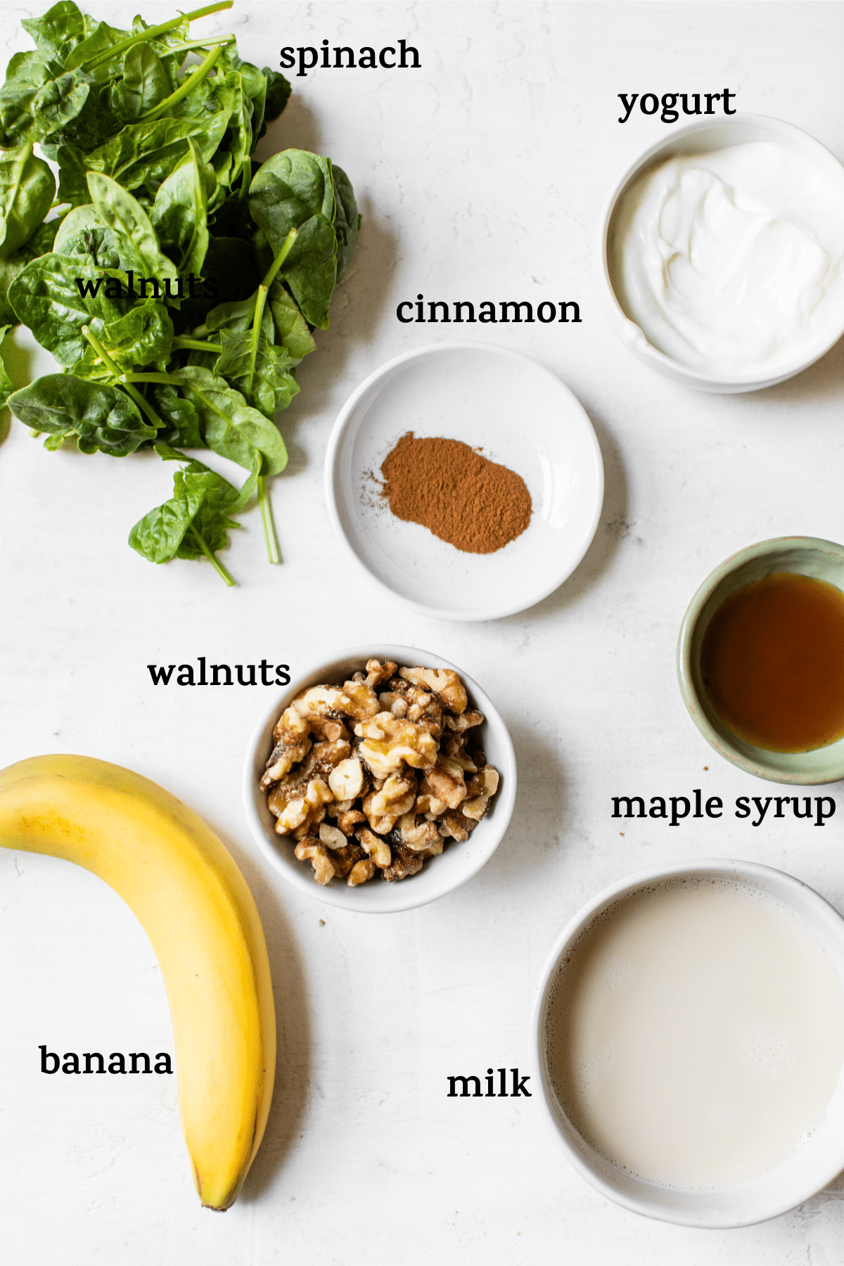 smoothie ingredients with text overlay
