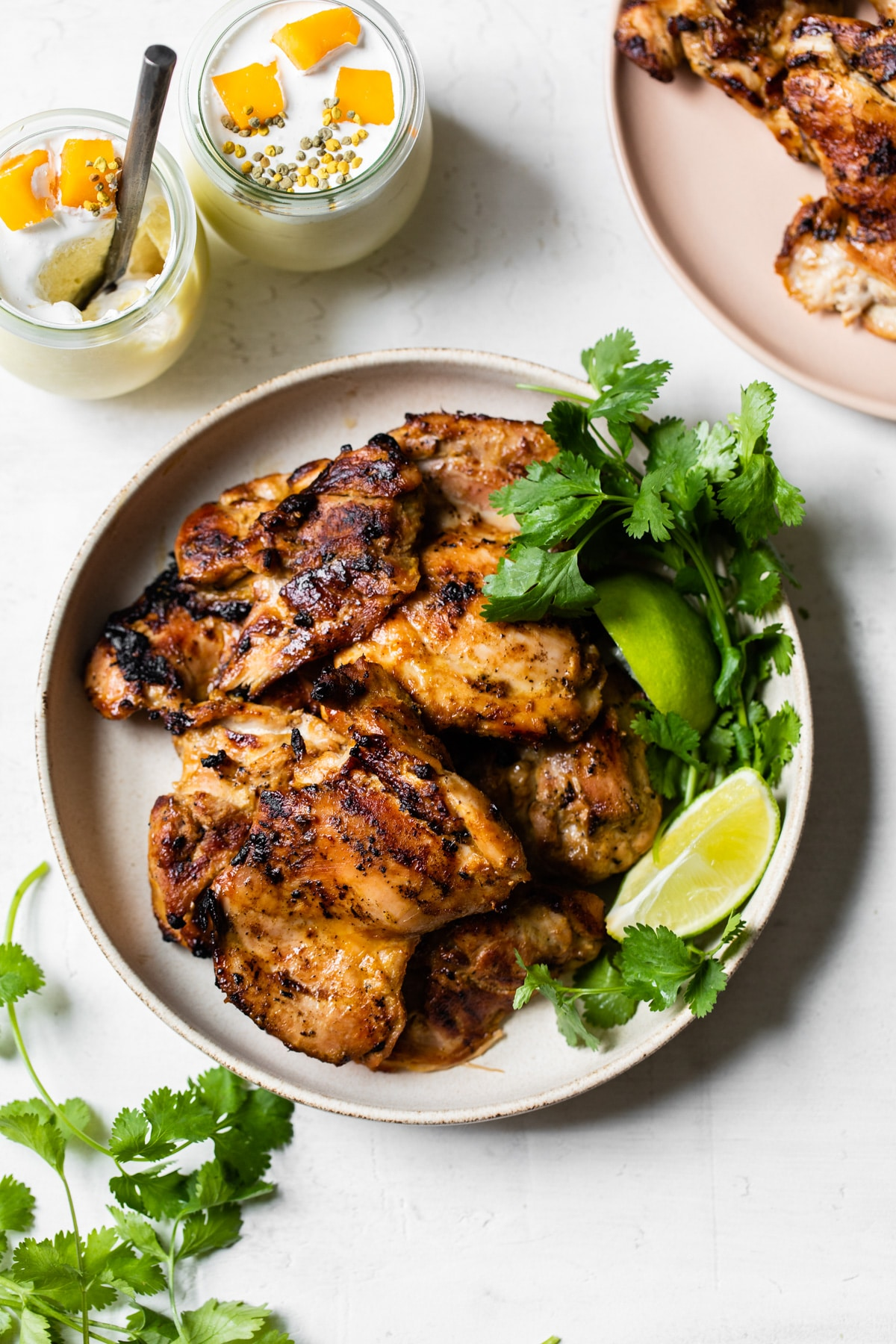 plate of grilled chicken