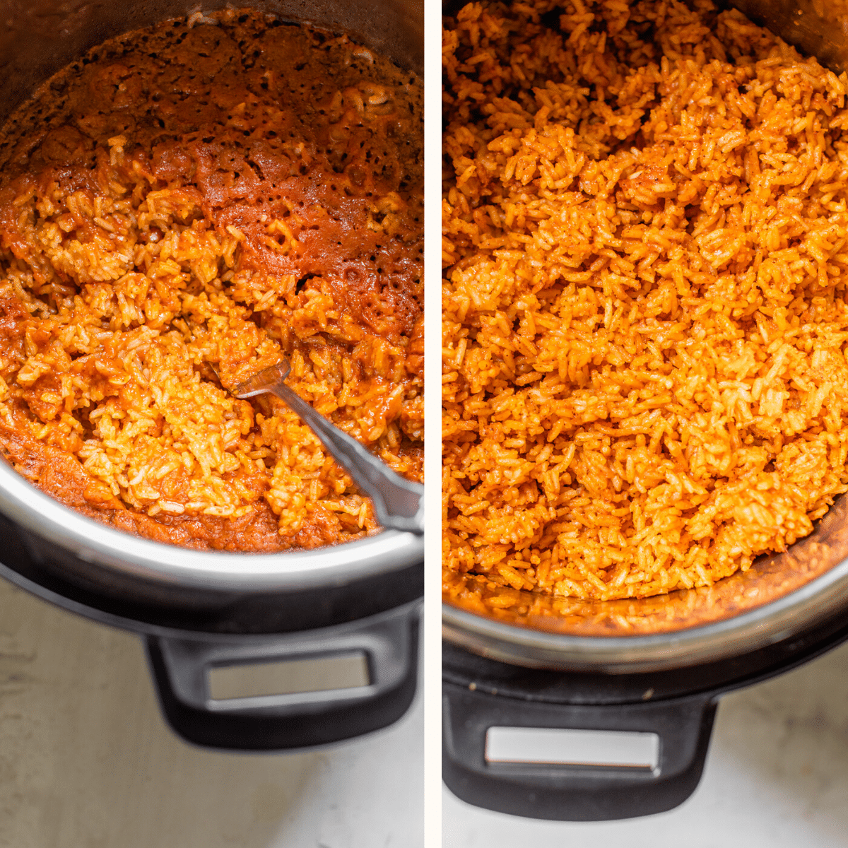 rice in a pressure cooker