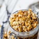 granola in a glass jar