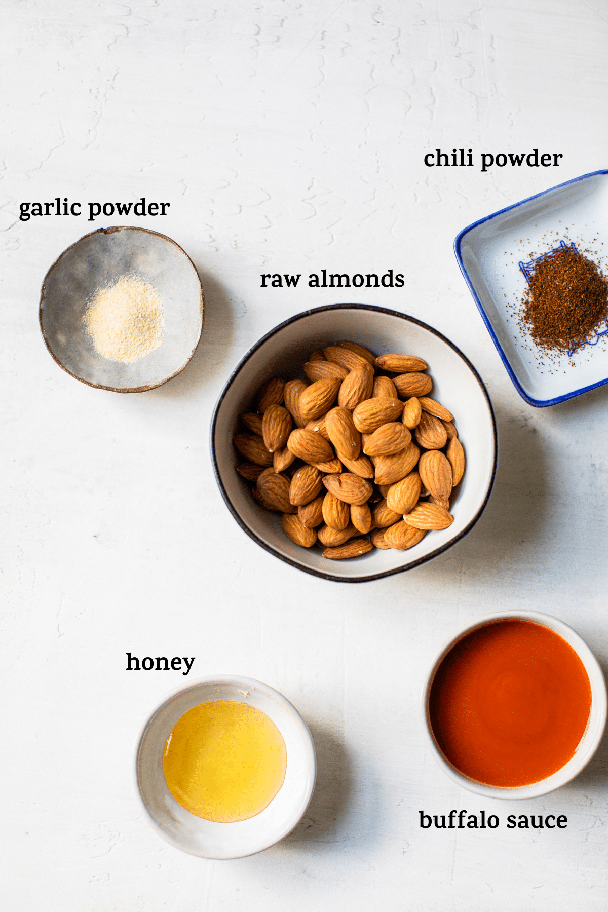 almond ingredients on a table
