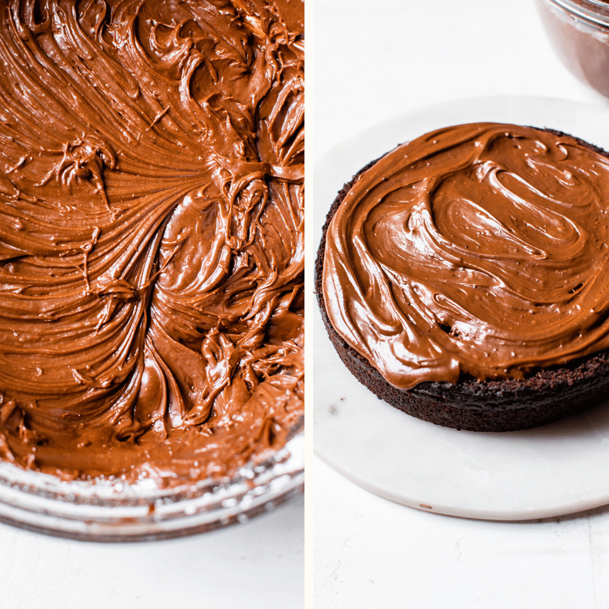 cake topped with chocolate icing