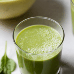 green smoothie with text overlay