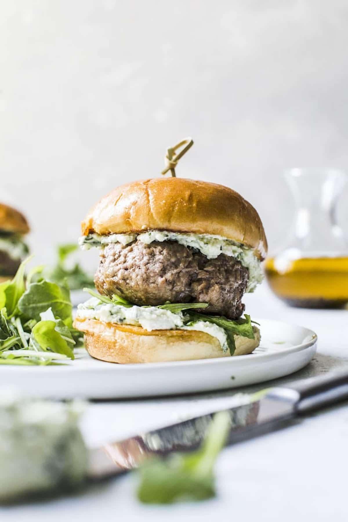 burger on a bun