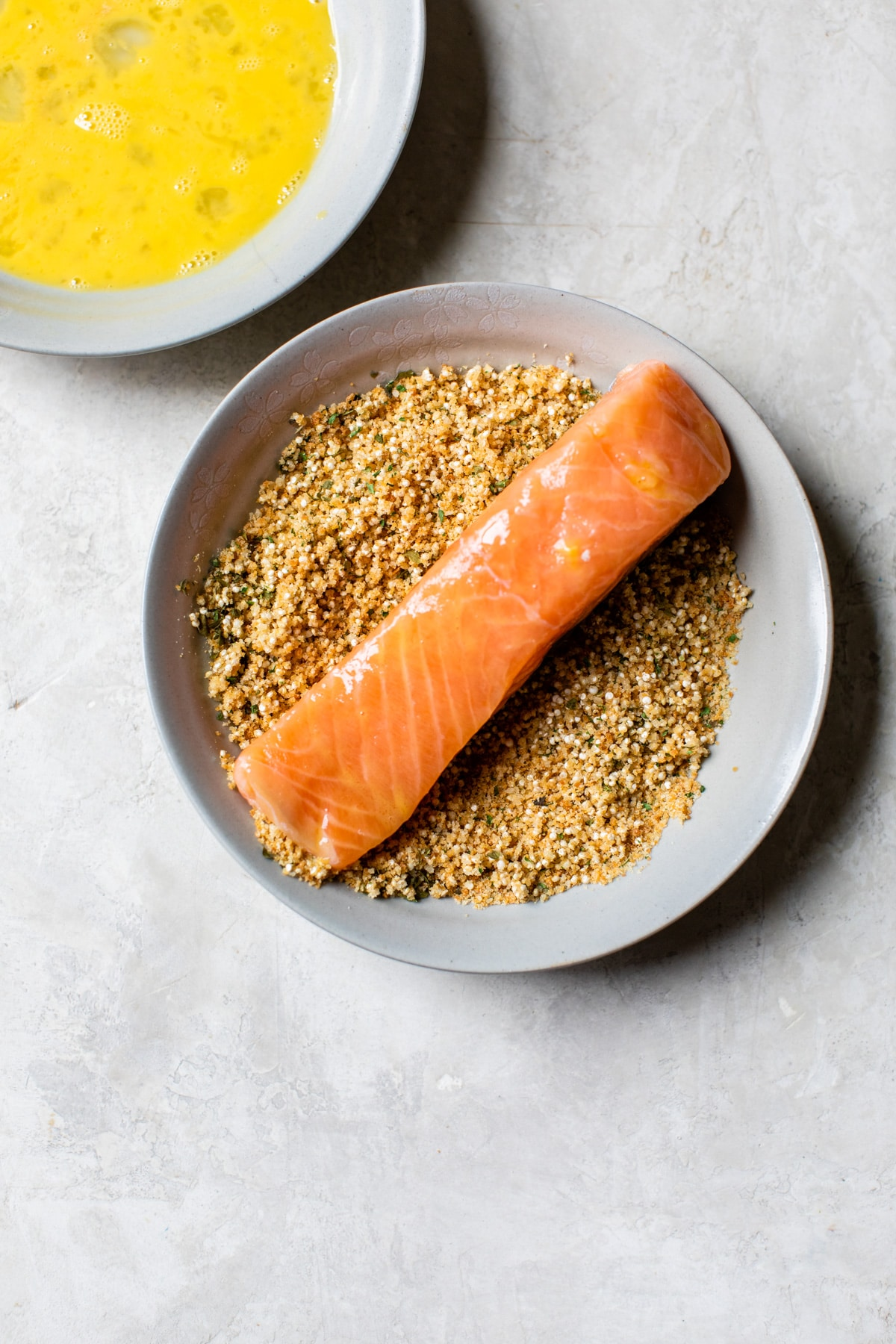 salmon in a bowl