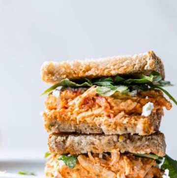 stacked chicken sandwich