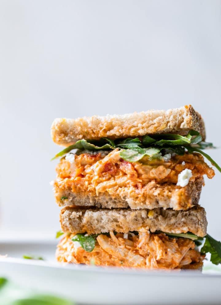 stacked chicken sandwich