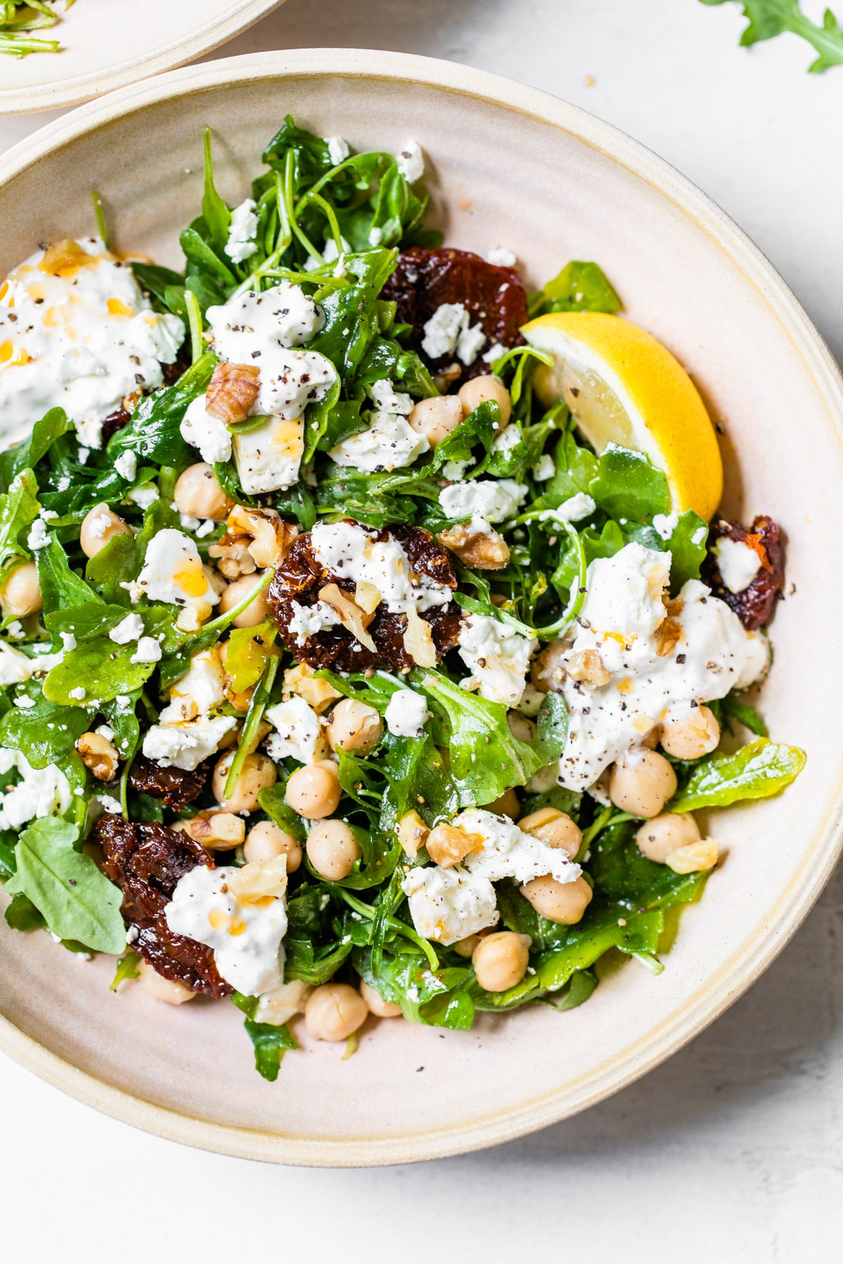 salad with chickpeas and feta