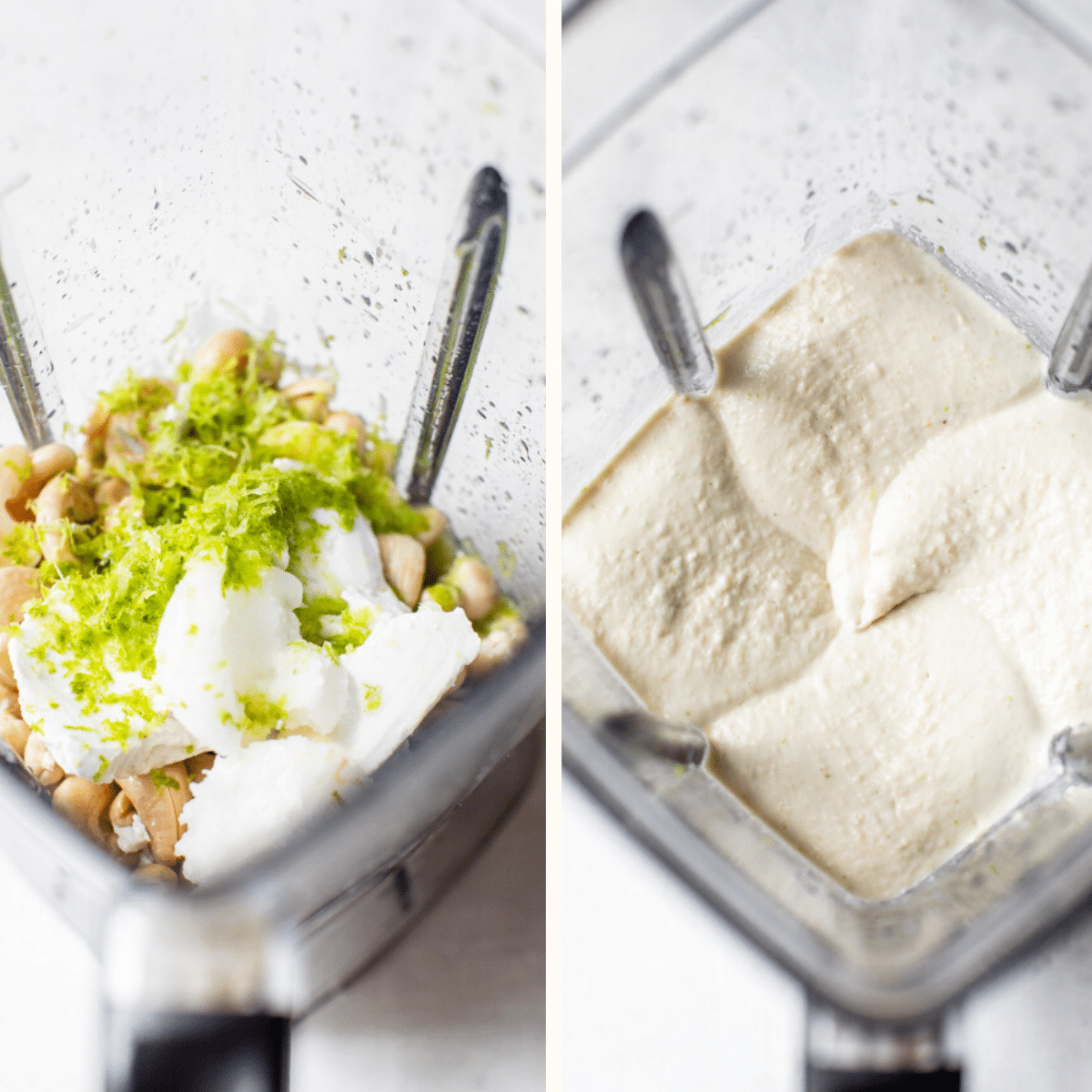 cashew cream in a blender