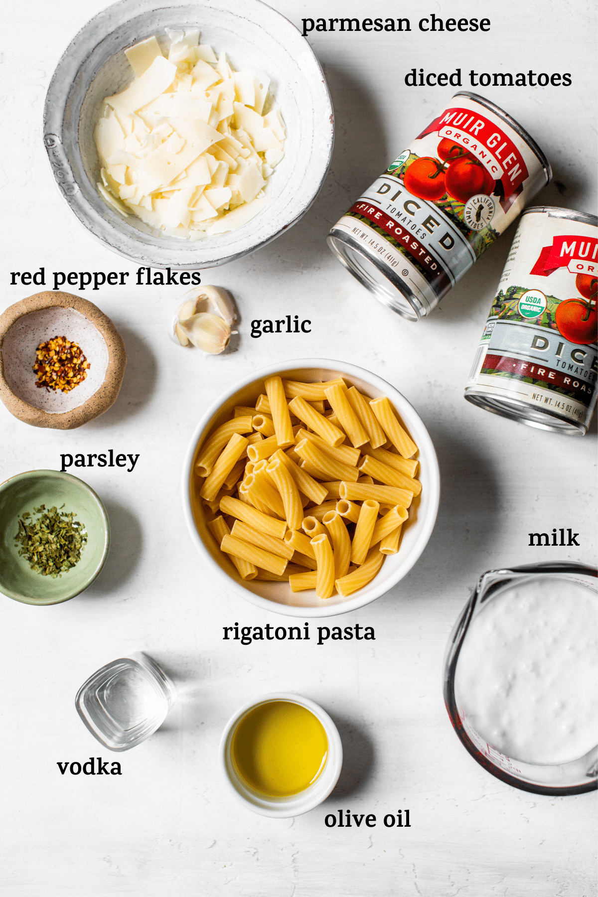 pasta ingredients with text