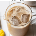 iced coffee with text overlay