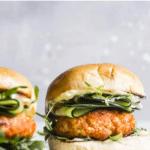 burger on a bun with text overlay