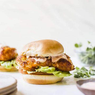 A cod sandwich