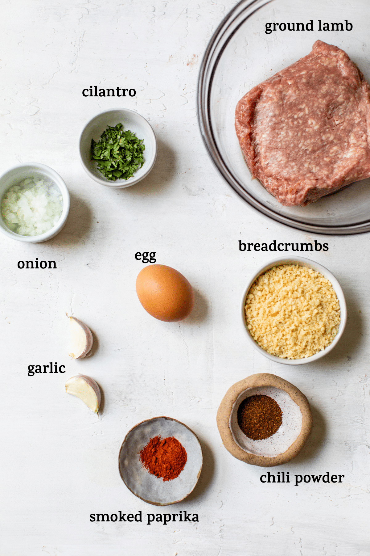meatball ingredients with text overlay