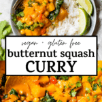 squash curry with text overlay