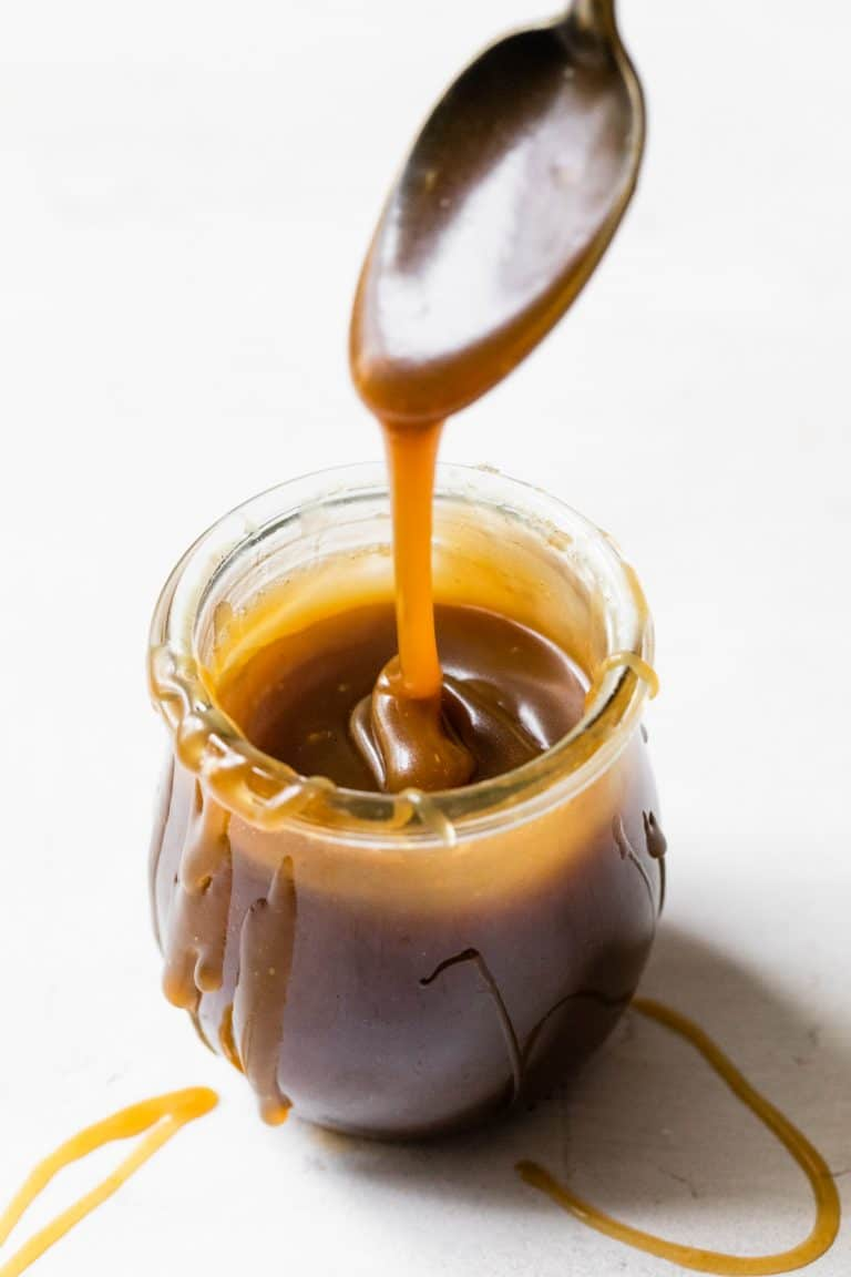 caramel sauce in a jar