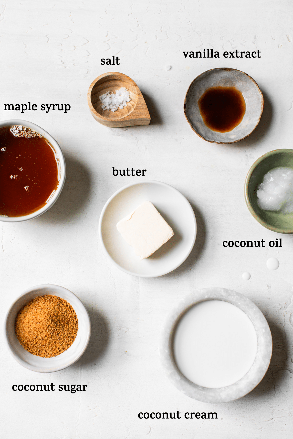 caramel sauce ingredients with text
