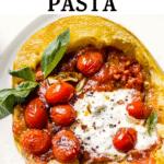 spaghetti squash on a plate
