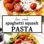 spaghetti squash with text