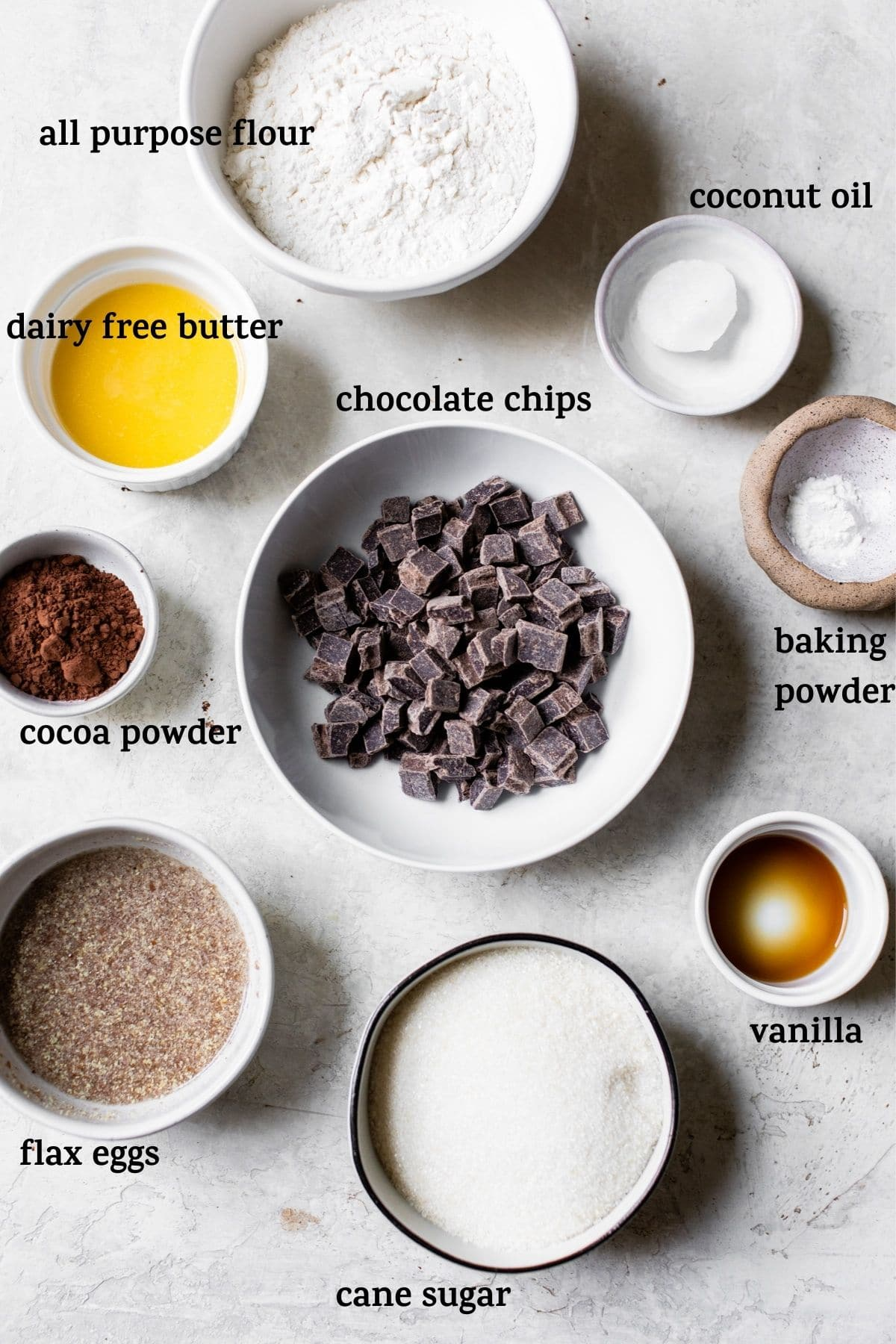 ingredients on a table with text