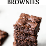 stack of brownies with chocolate chips