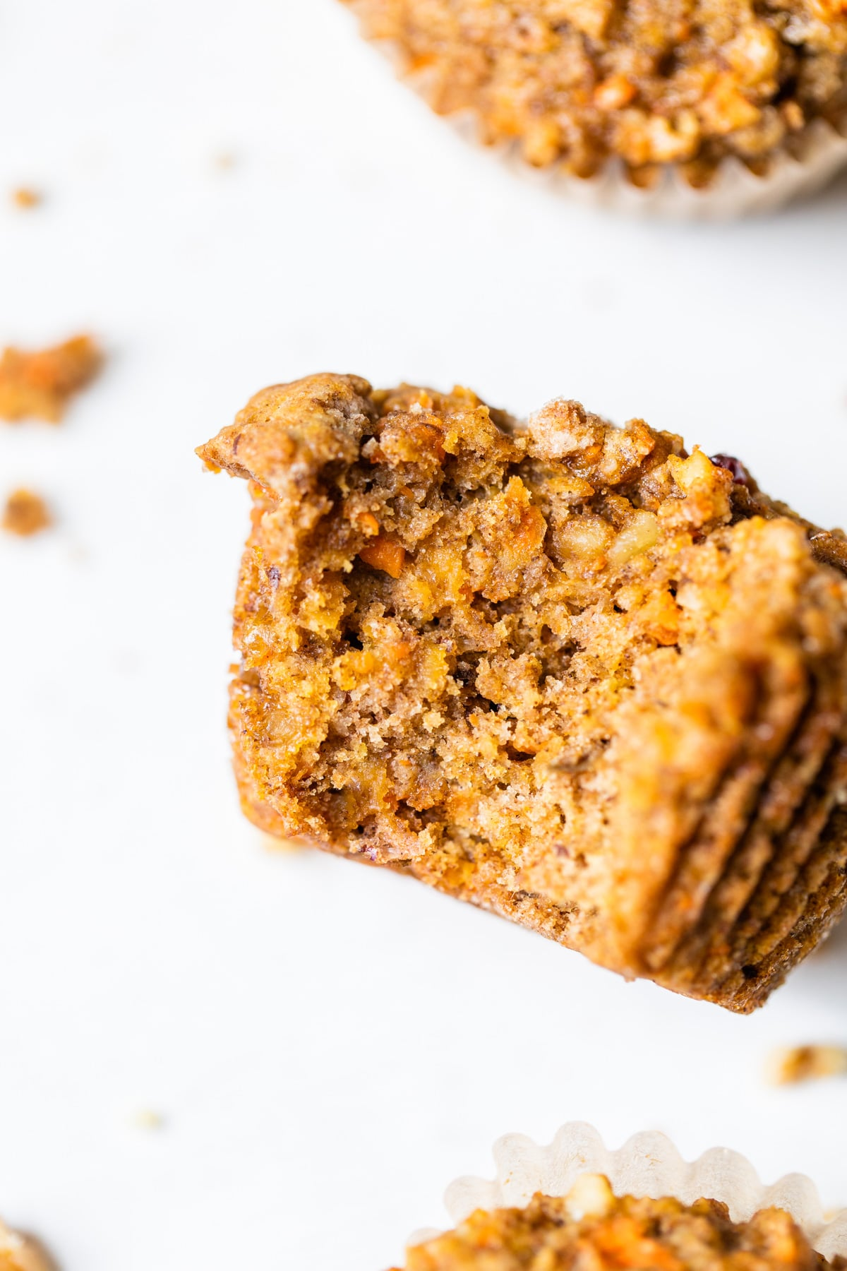 muffin with a bite taken out of it