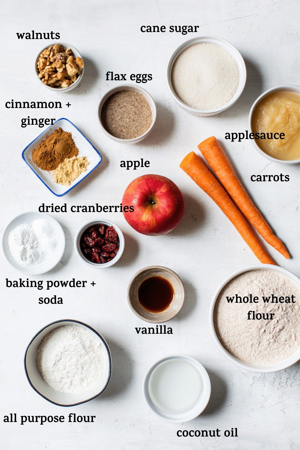 ingredients on a table