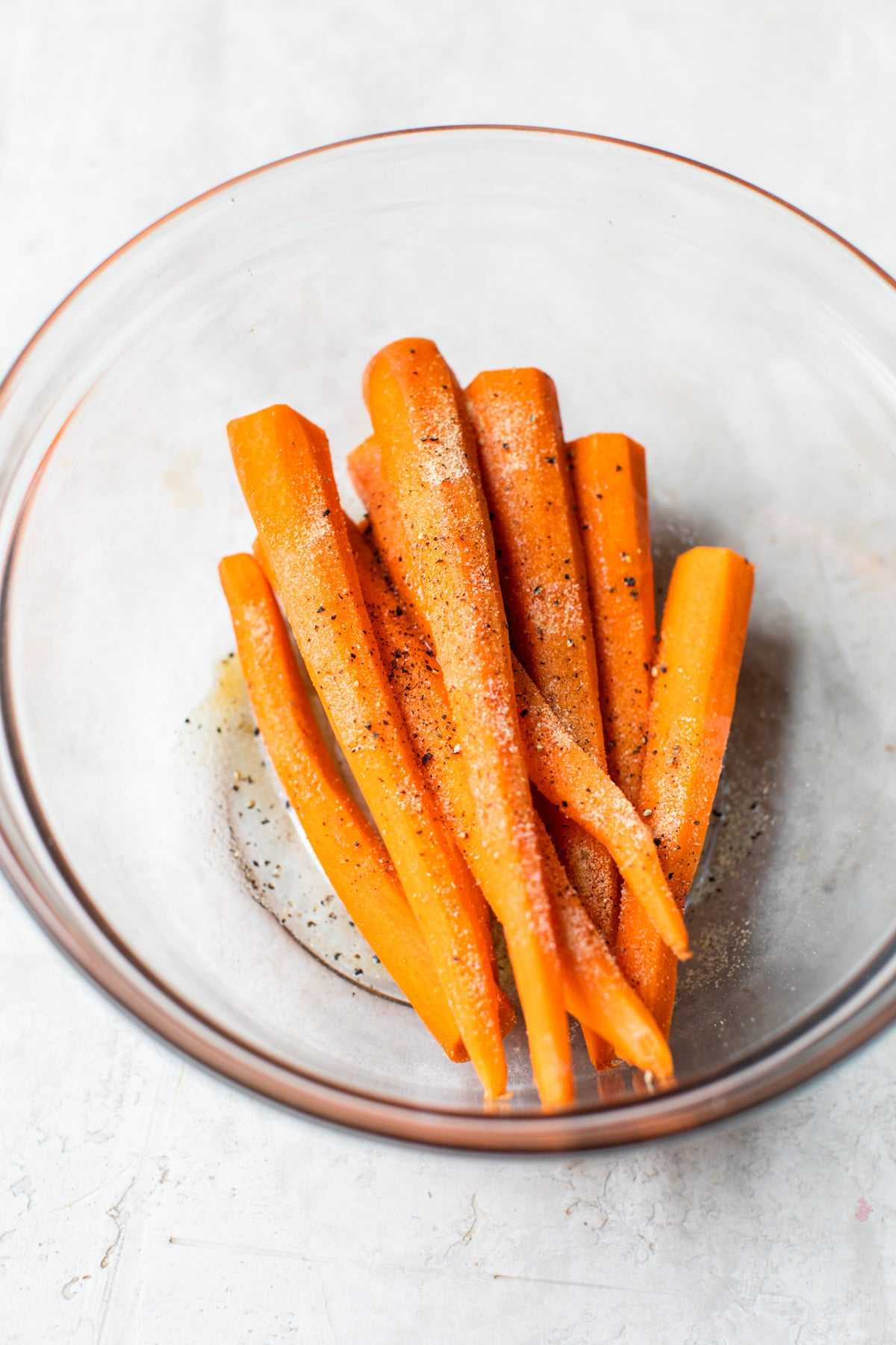 raw carrots in a bowl