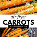 carrots with text overlay