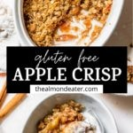 apple crisp in a dish