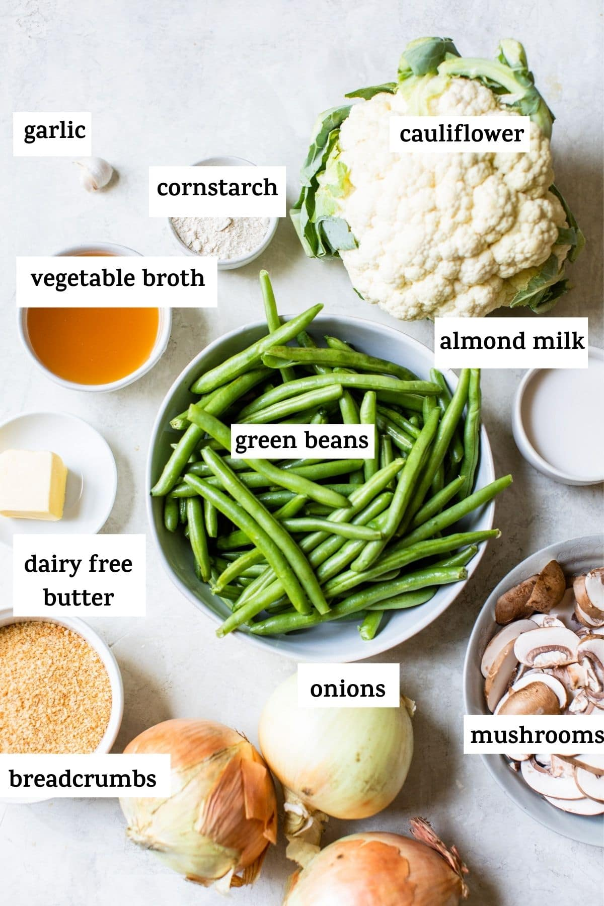 ingredients to make green bean casserole