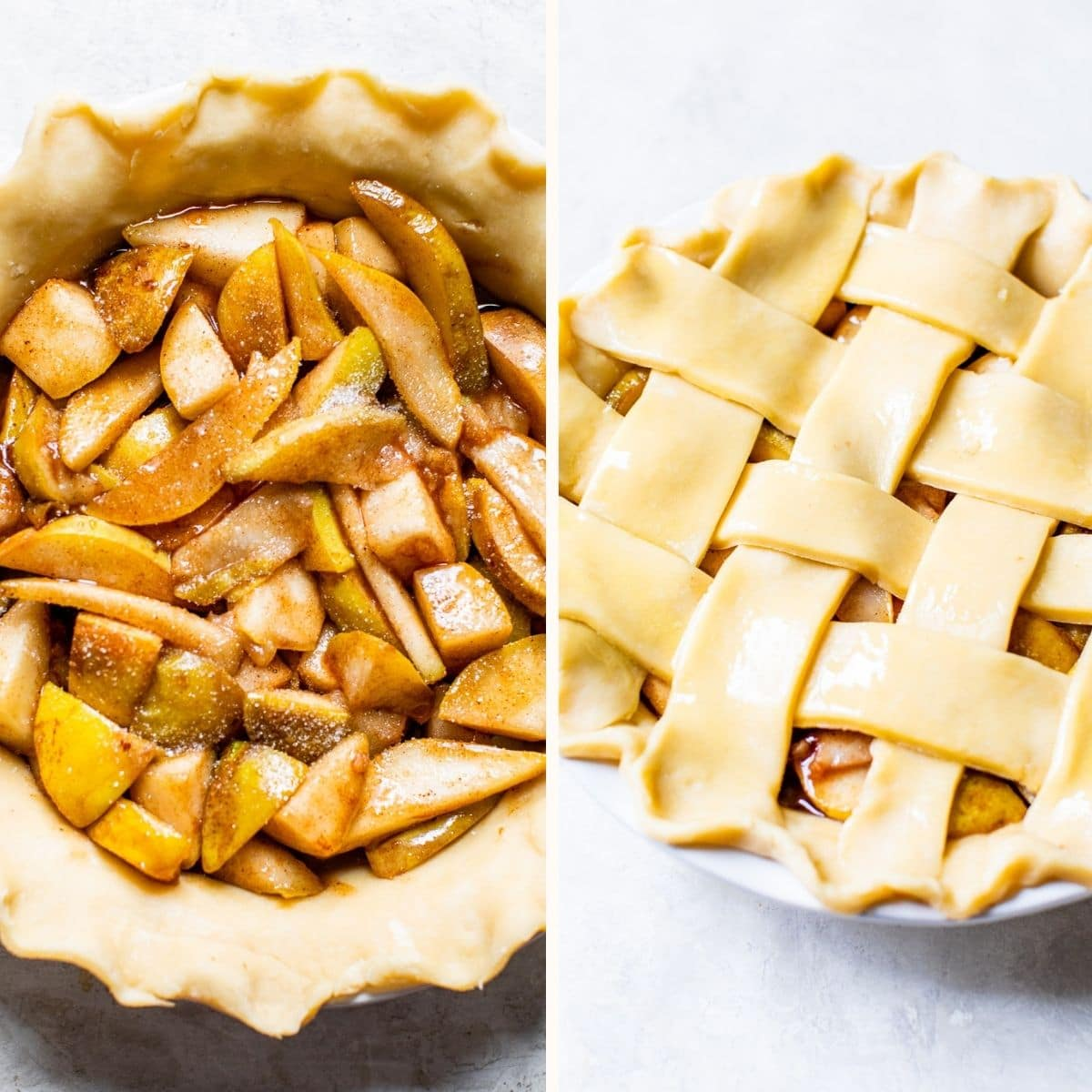 pie with filling before baking