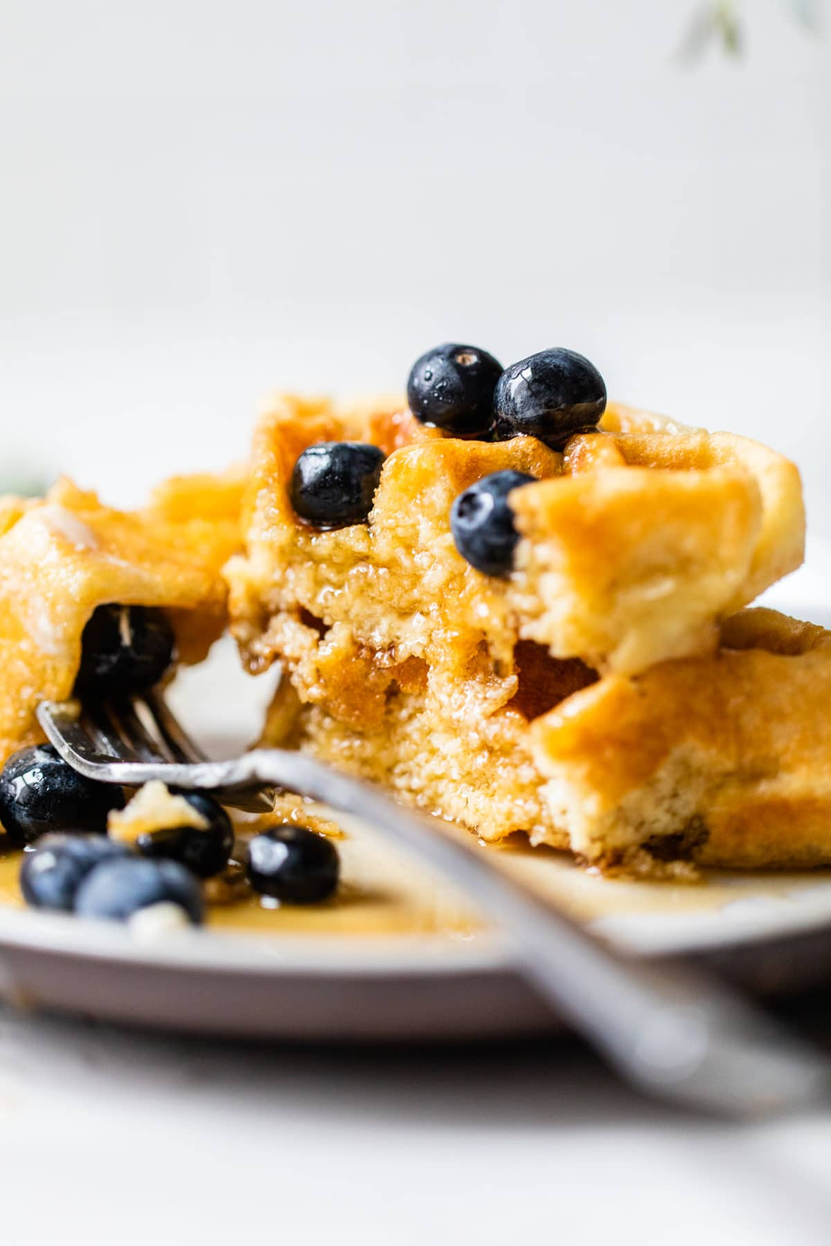 waffles topped with blueberries