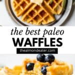 waffles with text overlay