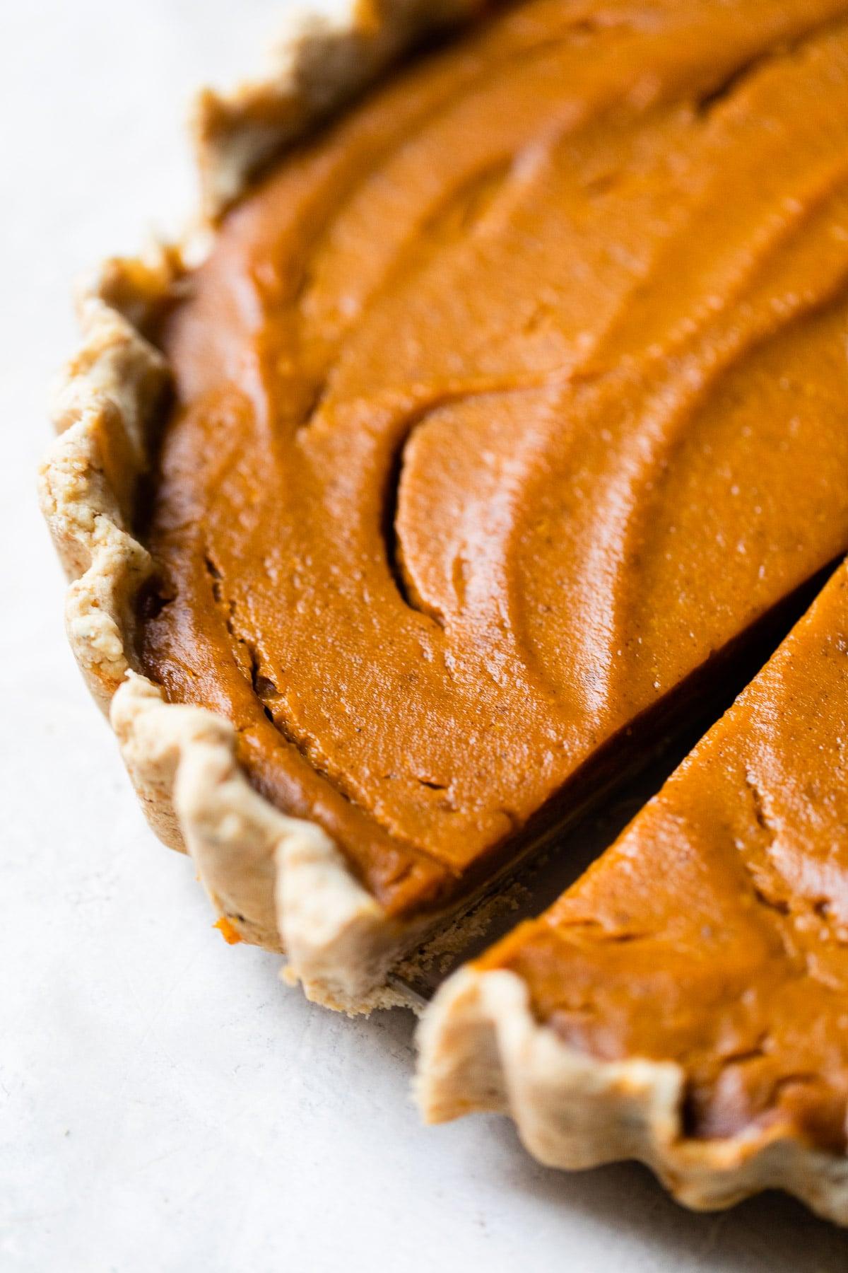 close up photo of pumpkin pie
