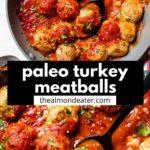 meatballs covered in marinara sauce