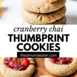 cookies with cranberry jam in the center