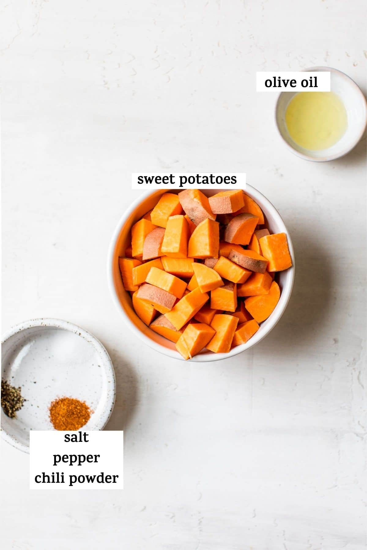 diced sweet potatoes in a bowl