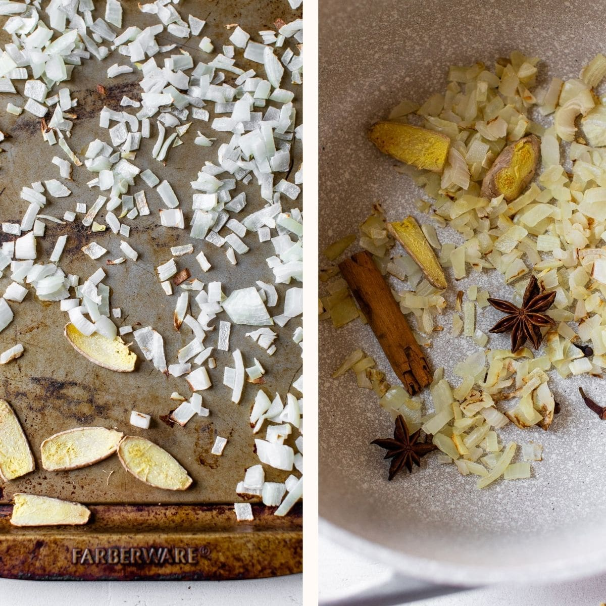 whole spices in a saucepan