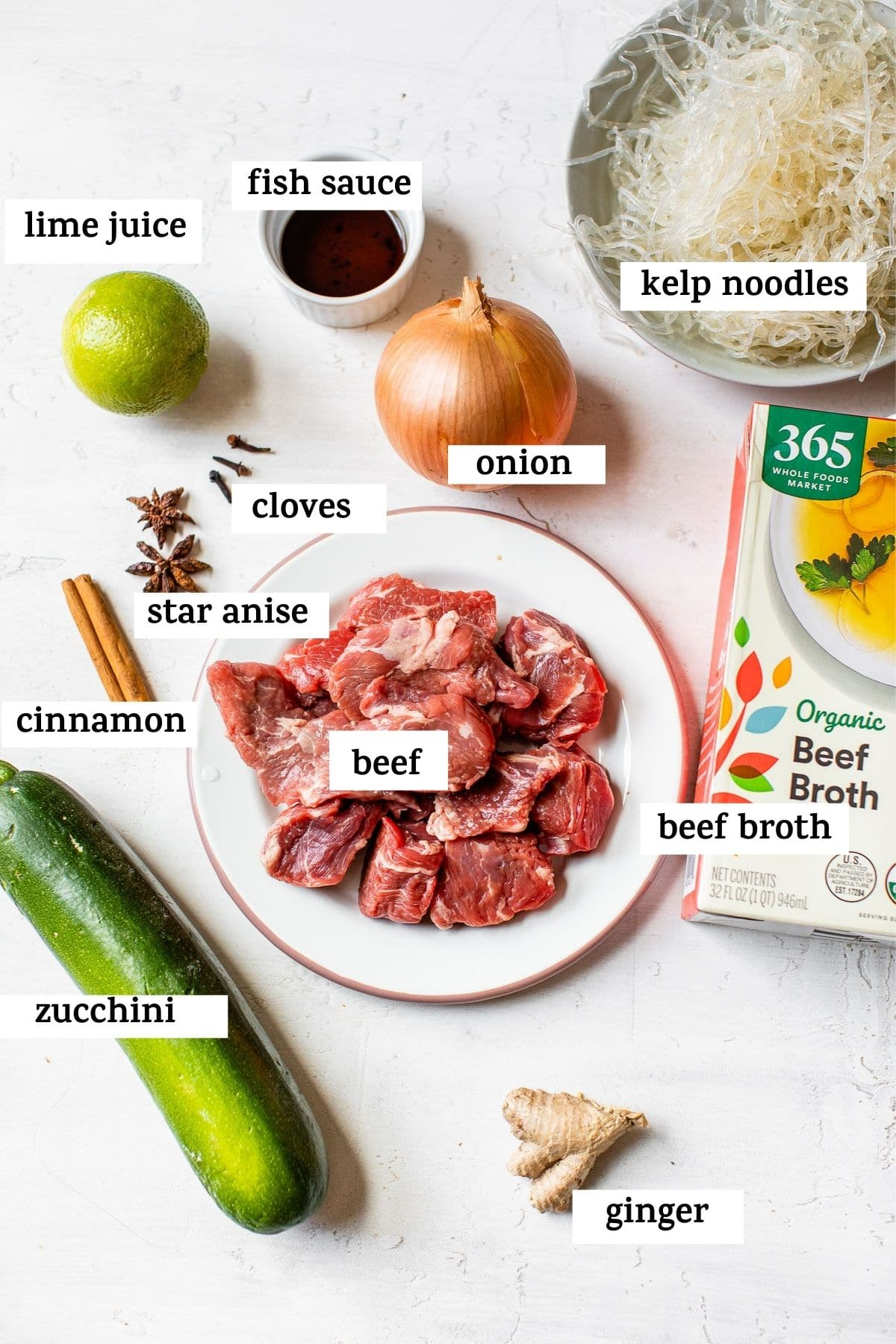 ingredients with text