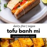 sandwich with marinated tofu and vegetables