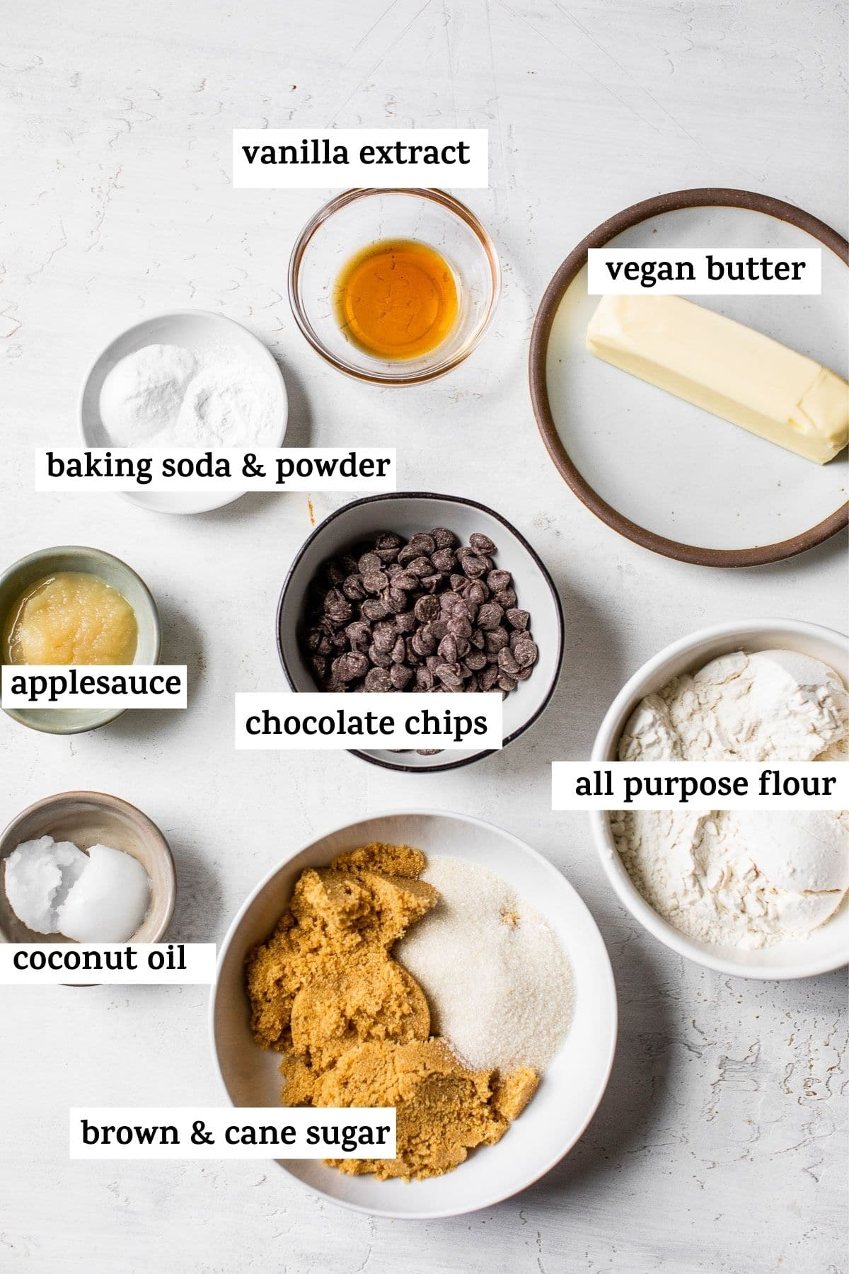 cookie ingredients on a table