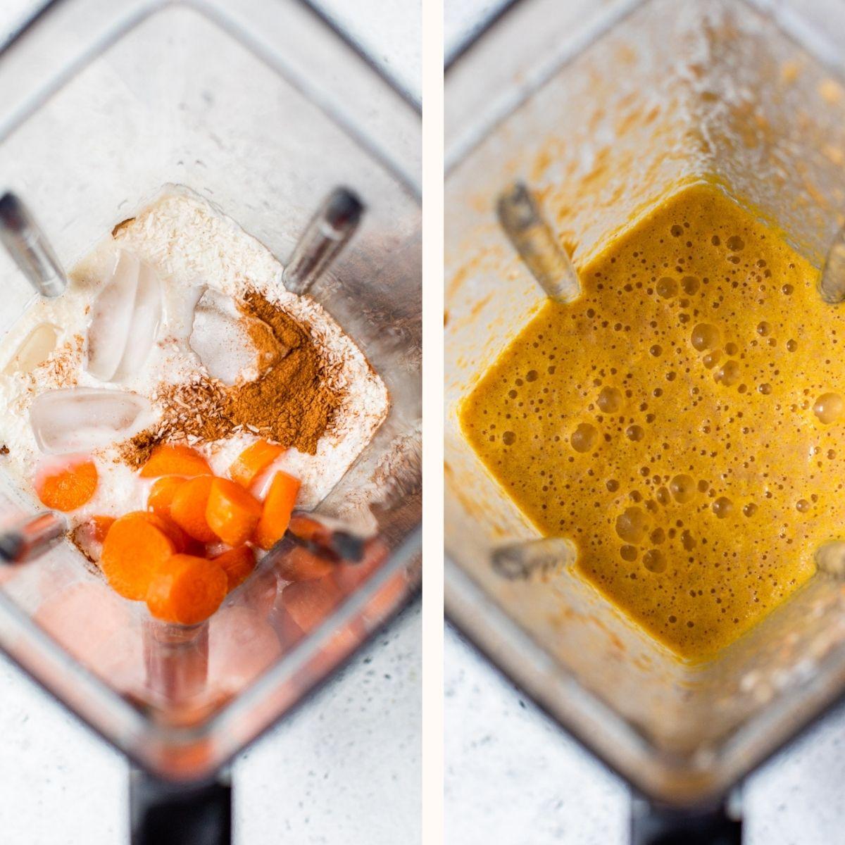 smoothie blended in a blender